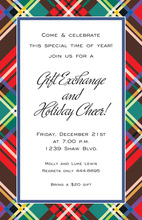 Plaid Glitz Invitations