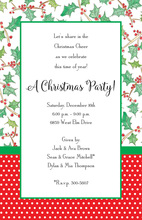 Holly Wrapped Invitation