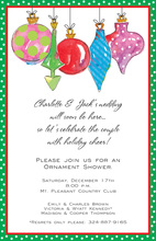 Ornament Glitz Holiday Invitations