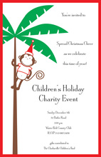 Merry Monkey Invitation