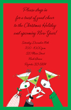 Corporate Merry Cheers Holiday Invitations