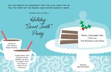 Holiday Cake Cocoa Treats Invitation