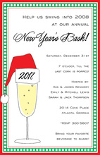 Christmas Bubbly Drink Invitation