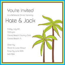 Two Simple Palm Square Invitations