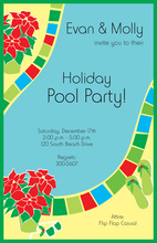Holiday Pool Invitation