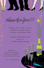 New Years Ankles Holiday Invitations