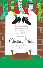 Chimney Visitor Santa Invitations