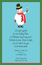 Tipsy Snowman Invitation
