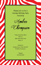 Santa Zebra Invitation