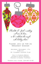 Patterned Bulbs Invitation