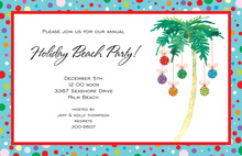 Deco Palm Invitation