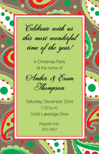 Paisley Cocoa Border In Green Invitation