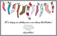 Hanging Socks String Invitations