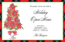 Poinsettia Topiary Invitation