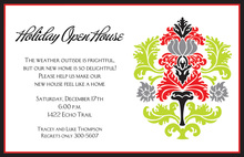 Elegant Holiday Flocking Invitation