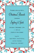 Modern Holiday Frostberries Invitation
