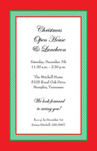 Modern Formal Traditional Classic Red Invitation
