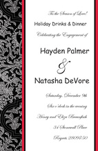 Lovely Elegant Evening Formal Invitation