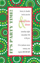 Party Time Holiday Lights Invitation