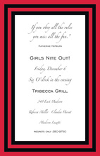 Be Bold-Red Border Invitations