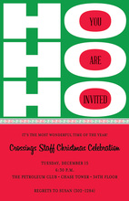 Scripting Ho Ho Ho Holiday Invitation