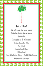 Houndstooth Palm Invitation