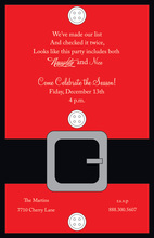 Traditional Red Santa's Suit Invitations