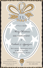 Gold Ornament Stars Invitation