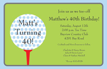 Golf Themed Tee Off Invitations