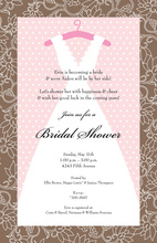 Vintage Wedding Dress Invitation