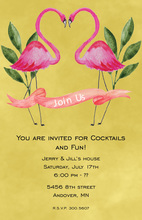 Lovely Duo Flamingo Invitations