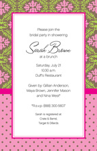 Stylish English Mix Border Invitation