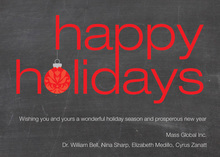Saying Happy Holidays Invitation