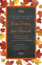 Maple Leaves Chalkboard Invitations