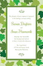 Spring Maple Leaves Green Invitations