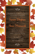 Autumn Maple Leaves Wooden Invitations