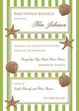 Modern Decorated Shells Invitations