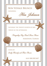 Framed Trio Shells Invitation