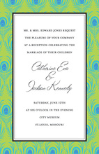 Beautiful Peacock Border Invitation