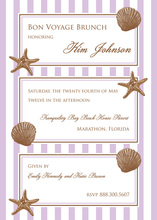 Classy Sea Shells Framed Invitations
