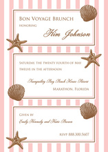 Sea Shells Beach Invitations