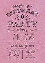 Rustic Lavender Birthday Invitations