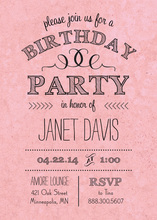 Rustic Pink Birthday Invitations