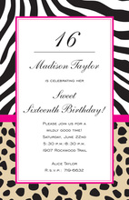 Wild Mix Animal Party Invitations