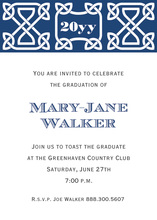 Navy Celtic Party Invitations