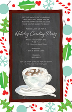 Cocoa Chalkboard Holiday Invitations