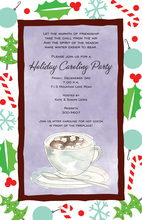 Modern Cocoa Holiday Invitations