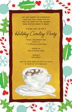 Bright Cocoa Holiday Invitations