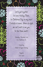 Antique Hijinks Scalloped Border Invitations