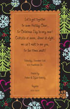Abstract Hijinks Holiday Invitations